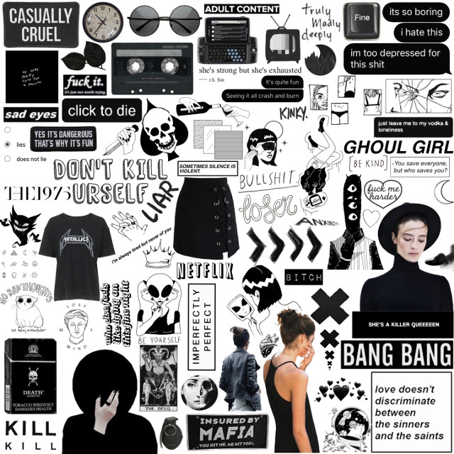 BLACK STICKERS  #ceiaxostickers #tumblrstickers #aesthetic #grunge #vintage #retro #hipster #indie #goth #gothic #horror #creepy #boho #cyberghetto #black #dark  #freetoedit