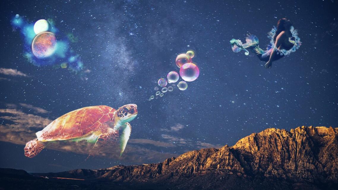 #myedit #remix #underwater #sky #turtle #mer