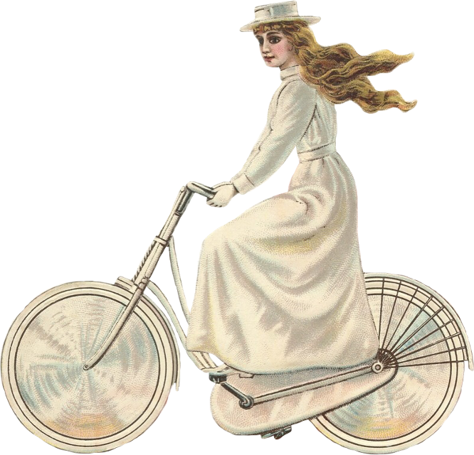 #woman #lady #bicycle #velocipede #retro #vintage #victorian #scbicycle  #freetoedit