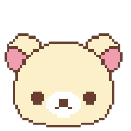 cute pixel bear soft osito aw sticker by crisatan