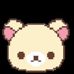 cute pixel bear soft osito freetoedit