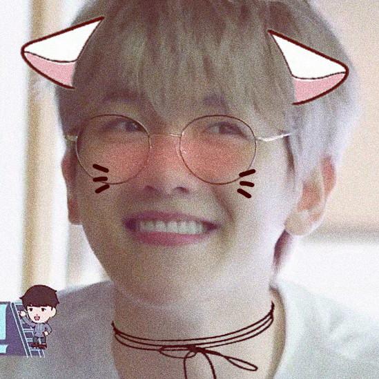 #cute #byun baekhyun #kitten #edit #soft #icon #pink #cat ears #baby #exo #exo-k #baekhyun #bbh  #freetoedit