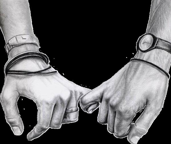 Holdinghands Love Couple Sketch Blackandwhite Hands Tru