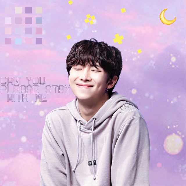 :)  #freetoedit #kimnamjoon #namjoon #purple #rm #bts #bangtanboys #beyondthescene #galaxy #moon #cute #soft