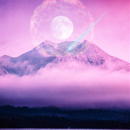 ircmagicalmountain magicalmountain freetoedit moon supernova