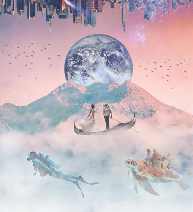 Mountain sail 🏔☁️   #ircmagicalmountain #magicalmountain #freetoedit