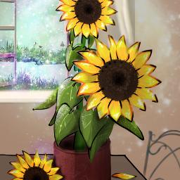 freetoedit happysunday vipshoutout sunflower drawing.