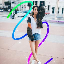 gradientbrush freetoedit gradient girl outdoor