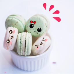 freetoedit macroons cute kawaii people