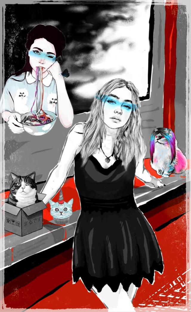#freetoedit #vipshoutout 🐱🤖 #meow
