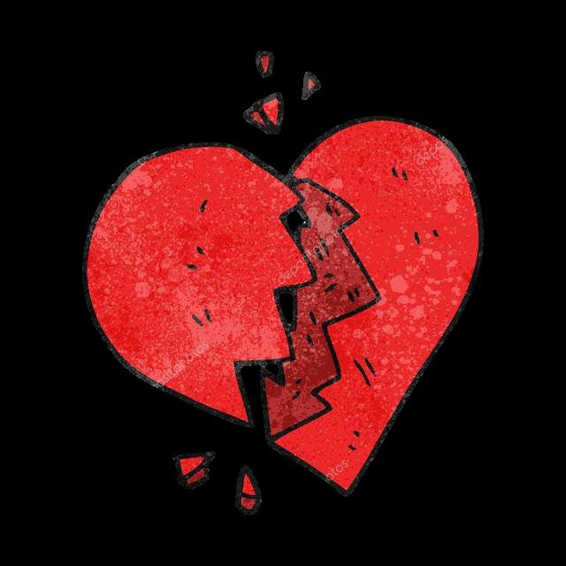 картинки разбитое сердце мультяшные них