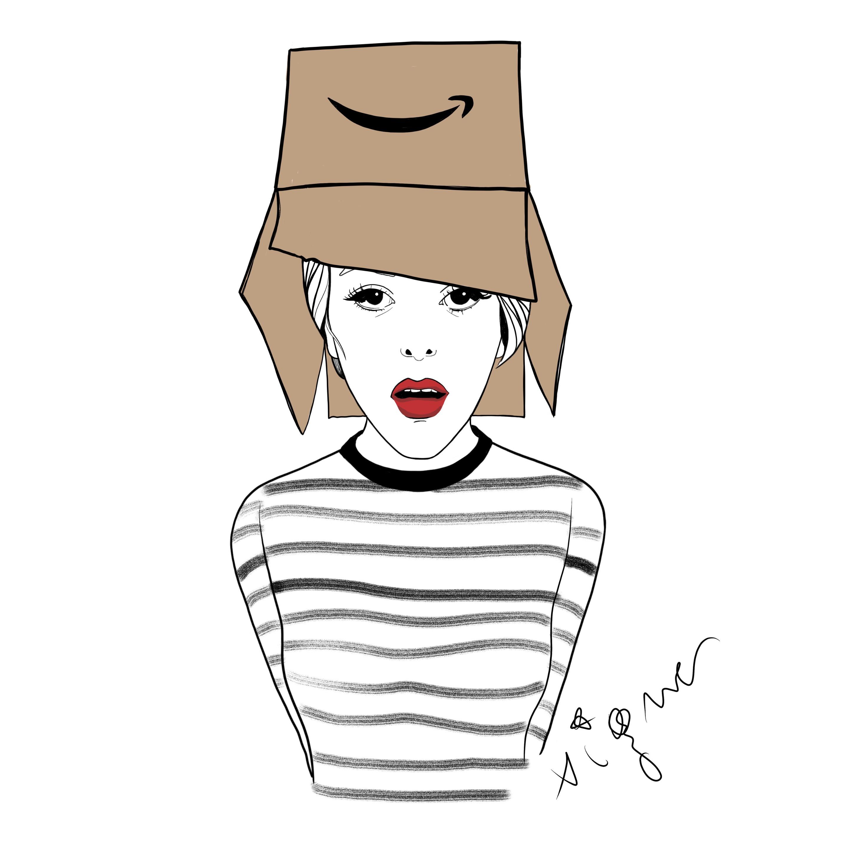 Fashion drawing by Rocio Vigne