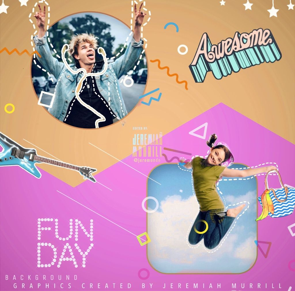 """@picsart """"Never ever underestimate the importance of having fun."""" -Randy Pausch  This is my fun remix! Can't wait to see yours!  • Background creates by Jeremiah Murrill @jeremundo • Name: Shaped Windows e.g. • Credits to: @brandy66613 @dubrootsgirl74 @aras_adali @mayrayken2 @steyi @jinjin_heartu @flickerofvintage @hcygyv @freetoedit @sweetpoison211 @pann70 @d4j4n4   #createdbyme #graphic #myart #myedit #people #splitscreen #lines #pink #yellow #awesome #pastel #shapes #background #interesting #jumping #confetti #fun #funday #picsart #sky"""