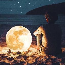 ecsurreal surreal moon challenge picsart