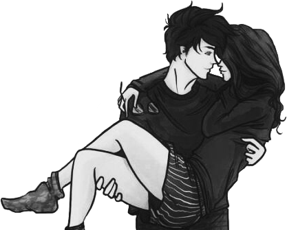 Couple Drawing Tumblr Blackandwhite Cute Goals Sticker