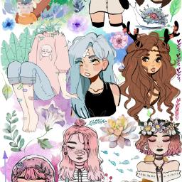 freetoedit stickercollage art flowers watercolor