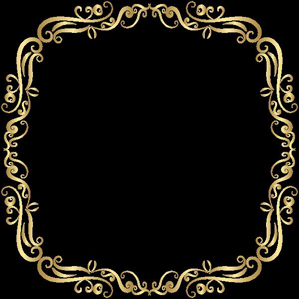 gold frame border png vintage square gold golden frame