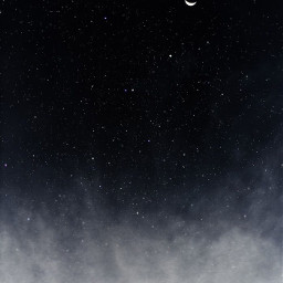 nighsky moon black sky white freetoedit