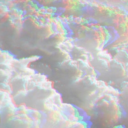rainbow clouds aesthetic background freetoedit