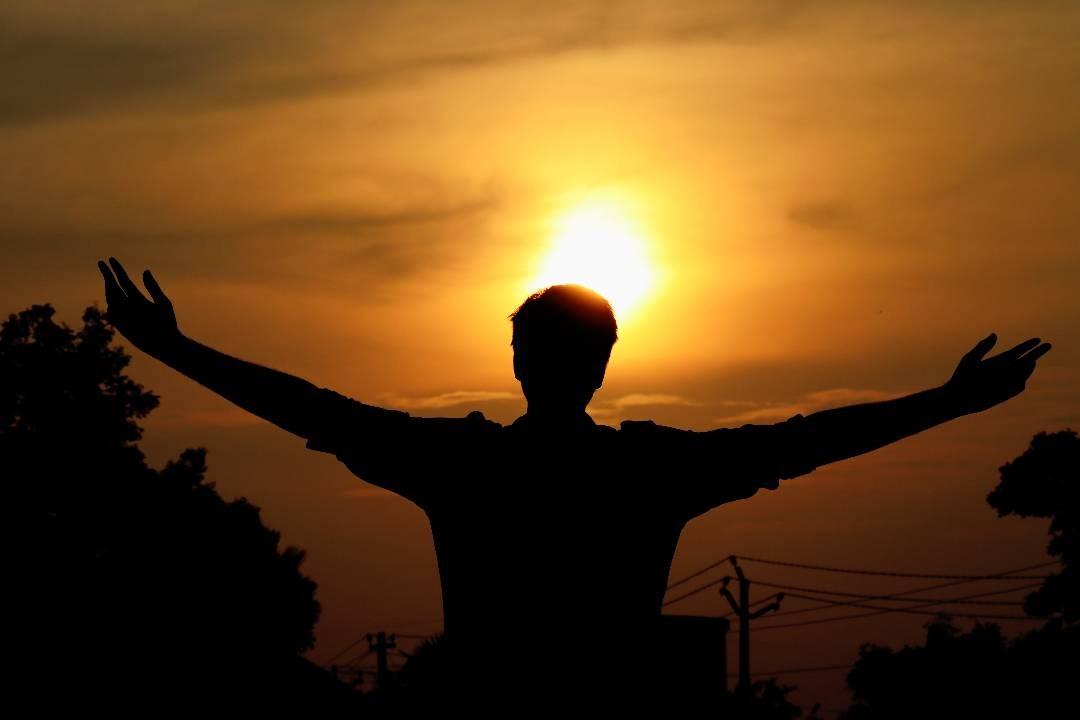 #nature #sunset #handsintheair