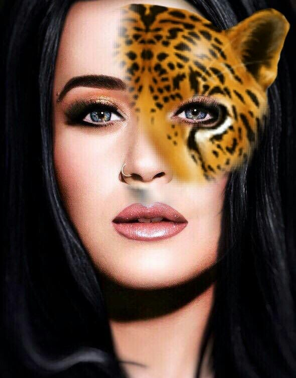 #freetoedit #tigerface #mask #katyperry
