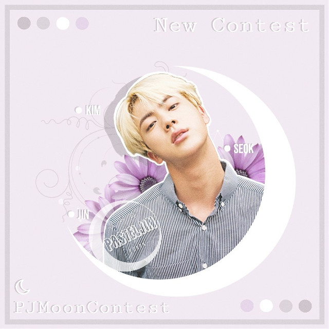 """─🌸💜 NEW CONTEST   Hey Guys! It's been a little while since the  Pastel-Jin-Contest, right? It was really fun doing it  and I was really happy that so many of you joined!  That's why I decided to hosting another one~   The PastelJin-Moon-Contest   ─━━━━━━⊱✿⊰━━━━━━─   ◐ RULES ◑   ☾ must include moon (no matter if full, half, ...)  ☾ must include a (or more) kpop idol/s  ☾ doesn't matter what style (pastel, aesthetic, ...)   ☾ may enter up to 3 edits  ☾ must use the hashtag #PJMoonContest  ☾ must tag me @/pasteljin   📅 duration: 05 May - 20 May (15 days)   ─━━━━━━⊱✿⊰━━━━━━─   ◐ BIAS LIST ◑      Kim Seokjin    Lee Jooheon   Jeong Inseong   Kim Wooseok   Jung Taekwoon (Leo)   Kim Yugyeom   Lee Taeyong   Kim Moonbin   Choi Eunsu   Lee Taemin   ─━━━━━━⊱✿⊰━━━━━━─    Comment """"🌙"""" if you think about joining!  I hope many of you will join! Have fun editing!💓🌸  •credits• ⭐Ib ➳ @pinkkookie @hobis-world  ➡Jin sticker ➳ @bangtanstickers  ➡Flower ➳ Google Images ➡Text ➳ Phonto  #kimseokjin #kimseokjinbts #seokjin #seokjinbts #jin #jinbts #btskimseokjin #btsseokjin #btsjin #worldwidehandsome #bts #bangtan #bangtanboys #btsarmy #btsedit #kpop #kpopbts #kpopedit #pastel #moon #aesthetic #interesting #pastelpurple #pasteledit"""