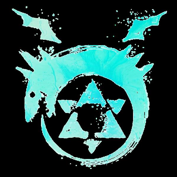 Fullmetalalchemist Homunculus Anime Symbol Blue Lightbl