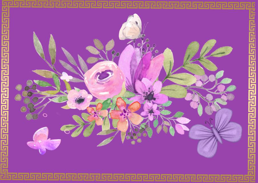 #freetoedit #watercolor #flowers #butterflies #purple #pink #beautifl #framed #adjusttools #minimaledit #myedit #madewithpicsart