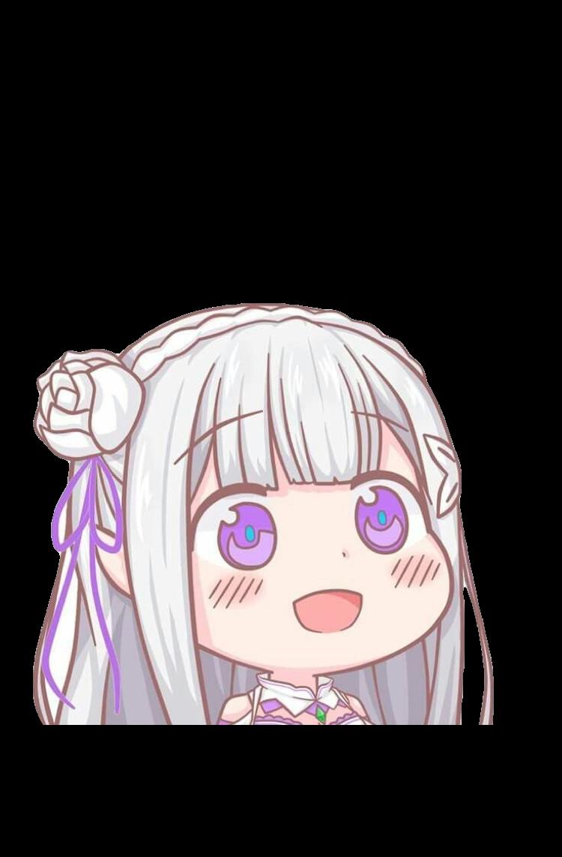 emilia anime rezeroemilia rezero kawaii chibi animegirl
