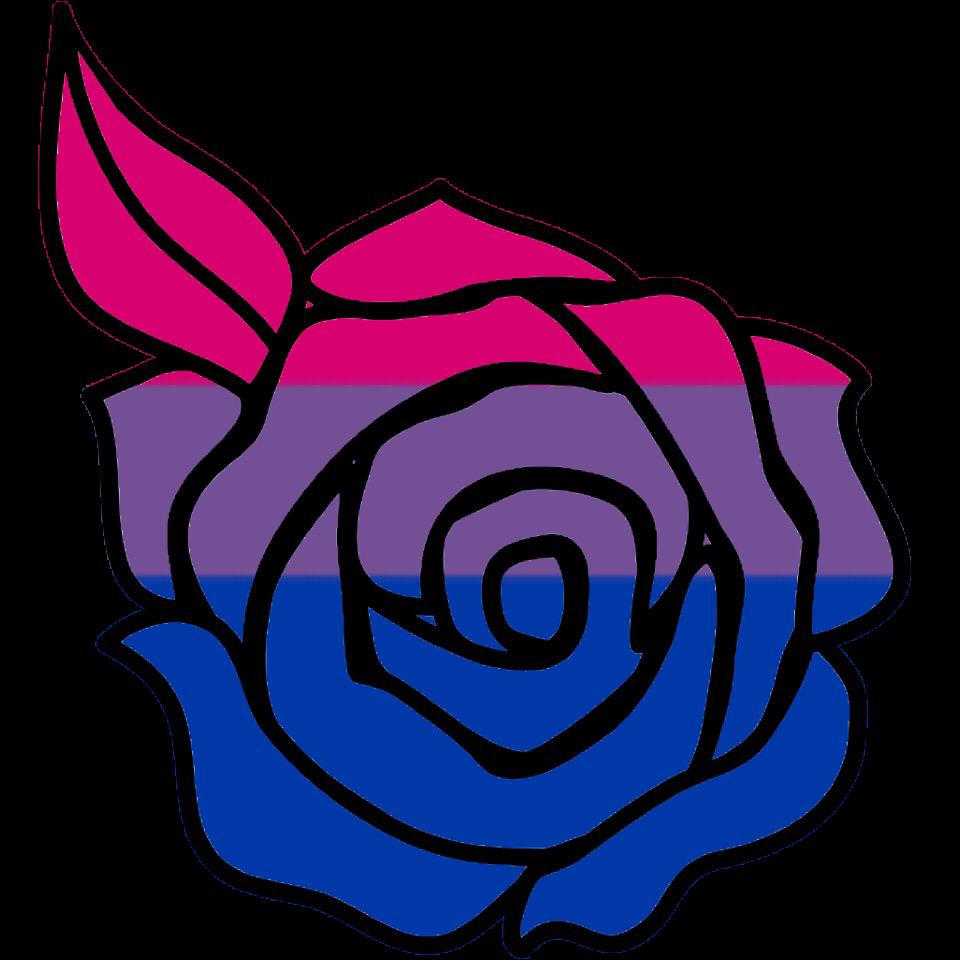 Bisexual Bi Pride Rose Lgbt Queer - Sticker By-6736