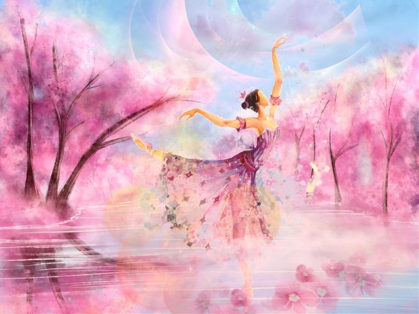 #freetoedit #woman #dancer #fantasyart #pinkaesthetic #beautiful #dreamy #myedit #madewithpicsart