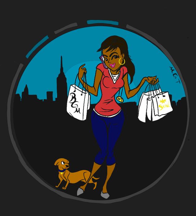 #freetoedit #girl #shopping #bags #girlandherdog #dog #blackartists #artist