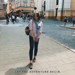 adventure journey girl beautiful city
