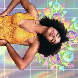 freetoedit collage blackgirl rainbow arcoiris