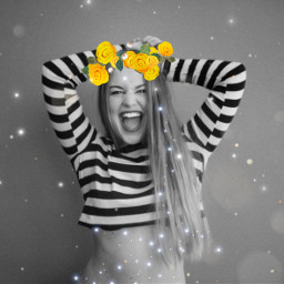 freetoedit flowers goldflowers happymothersday girl