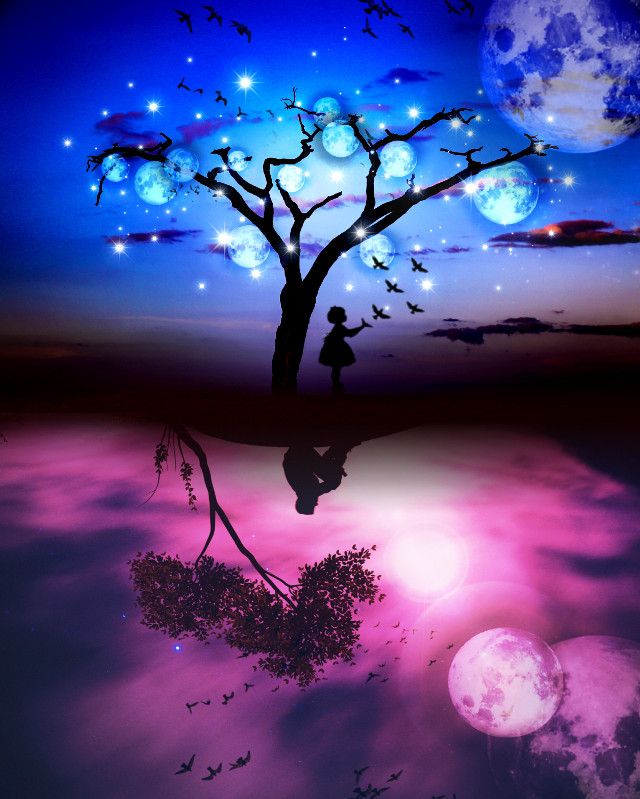🌚🌚 #freetoedit #fantasy #silhouette #surreal