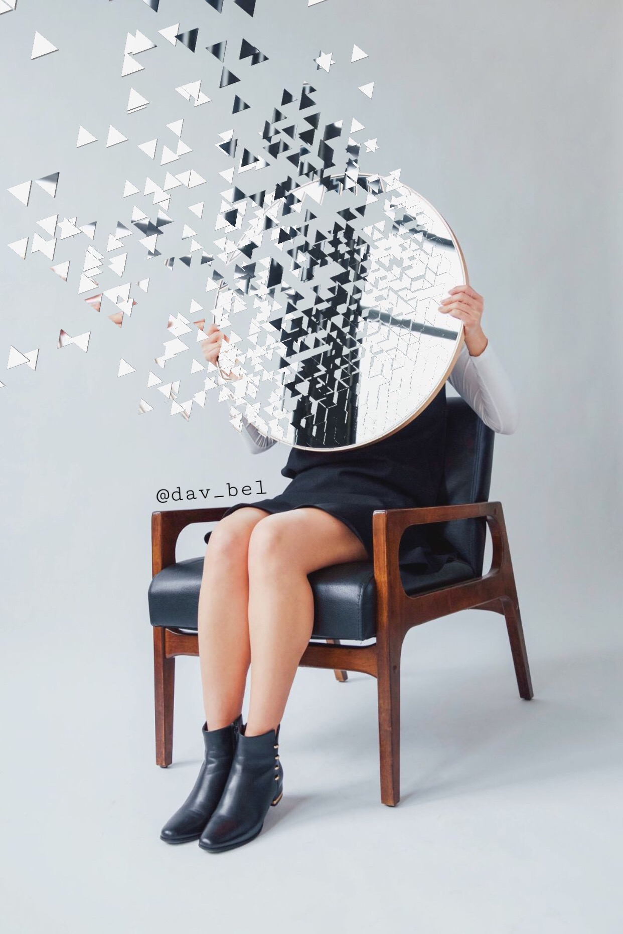 #freetoedit #dispersion #mirror #girl #chair