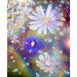 freetoedit remixedit flowerpower rainbows glitz