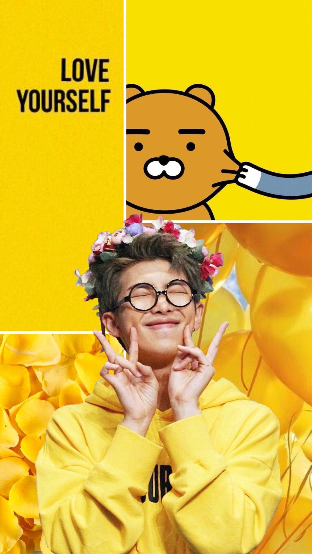 Freetoedit Bts Rm Yellow Aesthetic Kim Namjoon Ryan Wal
