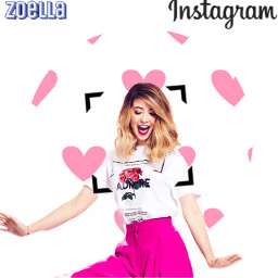 icon instagram white zoella pink freetoedit