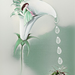 vipshout greenmagiceffect lily fairy artisticedit freetoedit