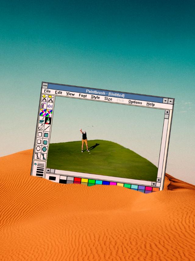 #freetoedit #desert #golf #paintbrush #surreal