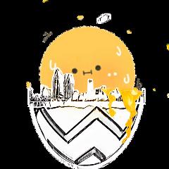 egg cityskyline edit art sunrise freetoedit