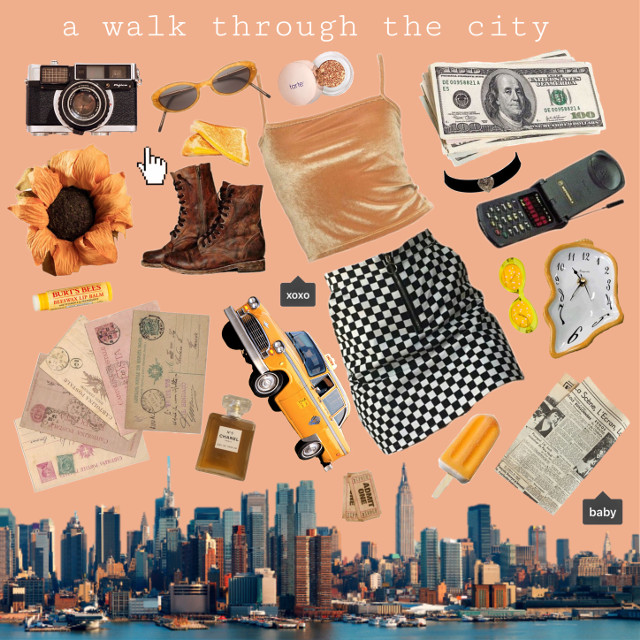 #freetoedit #aesthetic #moodboard #orange #yellow #interesting #art #sky #photography #city #artistic #a #walk #through #the #city