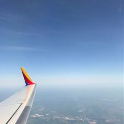 travel airplane sky city air freetoedit
