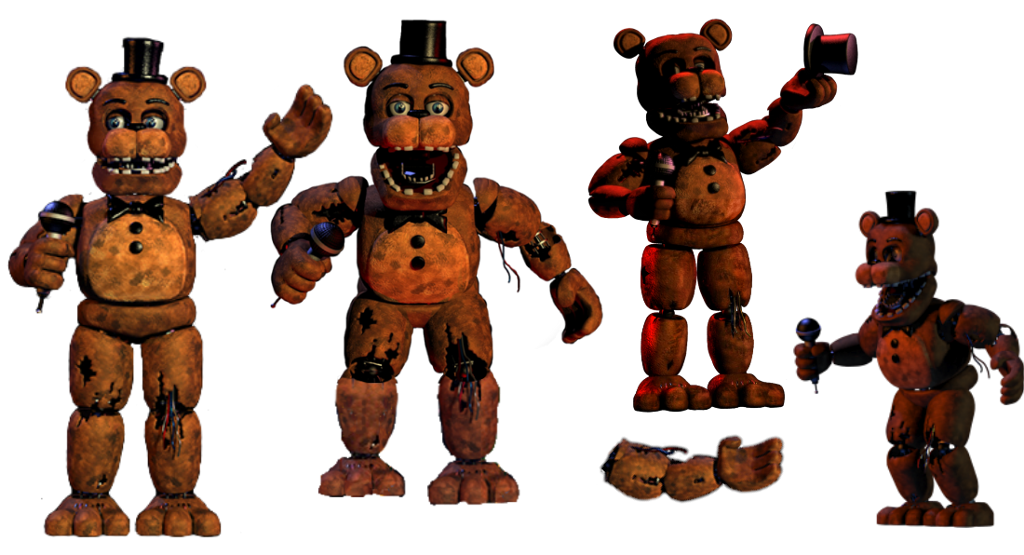 bunch of withered Freddy's - Sticker by Jaron