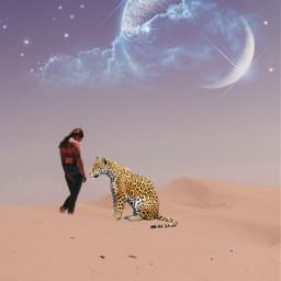 freetoedit fantasy leopard desert woman