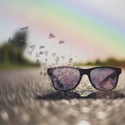 freetoedit glass sunglasses rainbow road