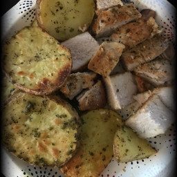 freetoedit yummy food potatoes porkchops