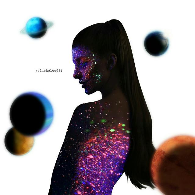 #freetoedit #madewithpicsart #madebyme #magic #magical #colorful #lights #stars #silhouette #galaxy #girl @picsart #ircsilhouette